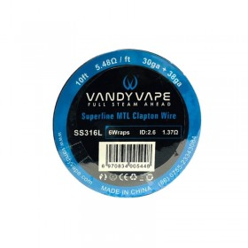 - SUPERFINE MTL CLAPTON SS316L - 30ga+38ga - Vandy Vape