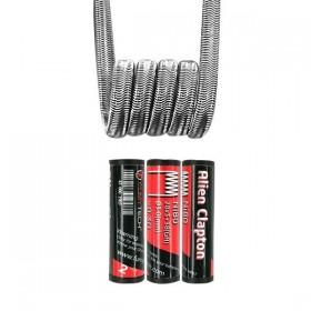 FumyTech prebuilt coil ALIEN CLAPTON TWISTED MESSES NI80 0.30ohm ID 3mm 2pcs