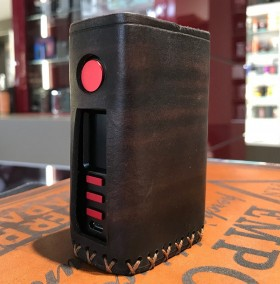 Vapecige - Vtbox DNA250C COVER IN CUOIO by Cover per Svapatori - OLD BROWN