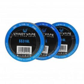 Vandy Vape - FILO RESISTIVO ACCIAIO 316L 24-26-28ga
