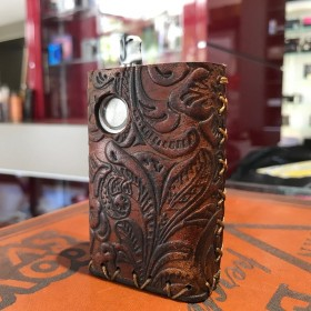 Dotmod - Dotaio COVER IN CUOIO by Cover per Svapatori - FLOWER OLD BROWN