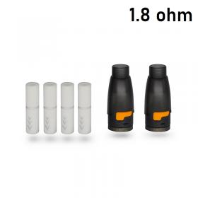 HotCig kubi/kubi 2 Pod Starter Kit 550mAh POD CON FILTRO 1.8ohm - 2 PEZZI