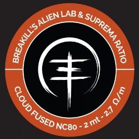 Breakill's Alien Lab / Suprema Ratio - CLOUD SPOOL 2021- CLDSP FUSED CLAPTON FULL NC80 - 2m