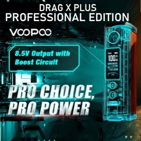 Voopoo - DRAG X PLUS BOX MOD 100W - Professional Edition