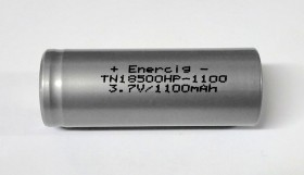 18500 - ENERCIG IMR 1100mAh 22A - Flat Top