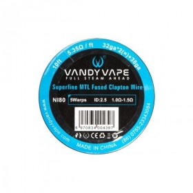 - SUPERFINE MTL FUSED CLAPTON Ni80 - 32ga*2+38ga - Vandy Vape