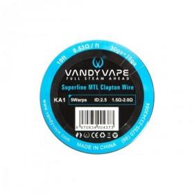 Vandy Vape - SUPERFINE MTL CLAPTON KANTHAL A1 - 30ga+38ga