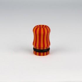 Officine Svapo DRIP TIP OFFICINE Galalite - Rosso/Arancio rigato