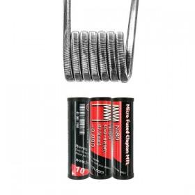FumyTech prebuilt coil MICRO FUSED CLAPTON MTL NI80 0.88ohm ID 2,5mm 10pcs