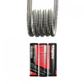 FumyTech prebuilt coil CLAPTON SS316 0.40ohm ID 2,5mm 10pcs