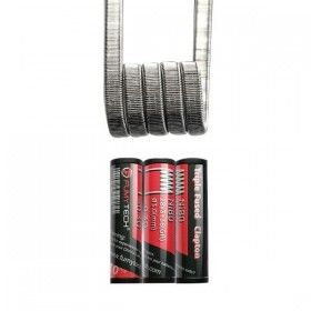 FumyTech prebuilt coil TRIPLE FUSED CLAPTON NI80 0.30ohm ID 3mm 10pcs