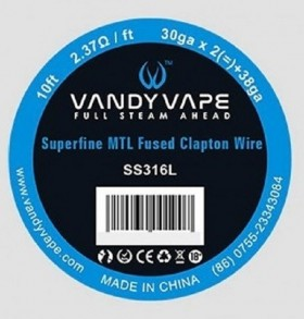 - SUPERFINE MTL FUSED CLAPTON SS316L - 30ga*2+38ga - Vandy Vape